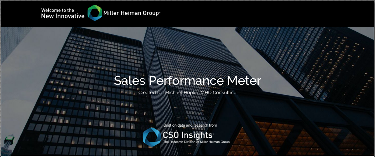 Titelbild des Sales Performance Meter